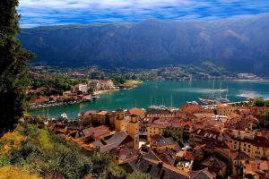 kotor bay bay kotor (town) city montenegro cityscape mountains