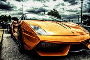 lamborghini filter car orange