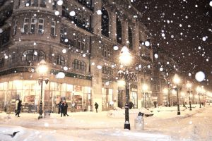 lamp street street light snow belgrade sarajevo