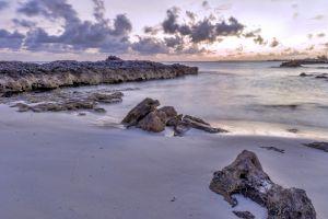landscape beach evening nature rock coast