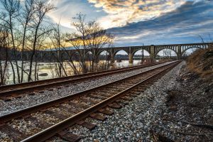 landscape bridge railway