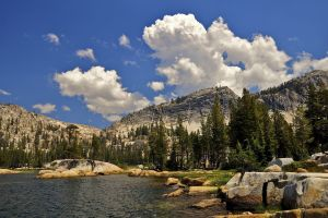 landscape california nature yosemite national park cliff lake