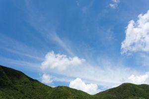 landscape clouds sky hills