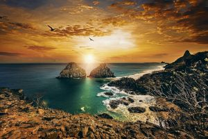 landscape coast brazil