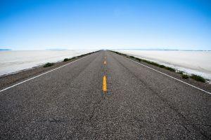 landscape desert long road road plains