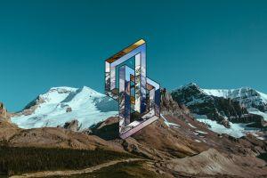 landscape digital art mountains
