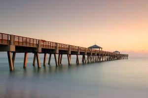landscape horizon sunrise sea pier
