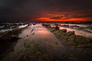 landscape horizon sunset beach sea skyscape