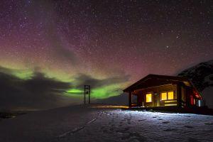 landscape house snow