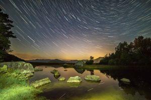 landscape lake stars