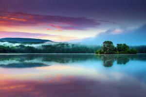 landscape lake trees