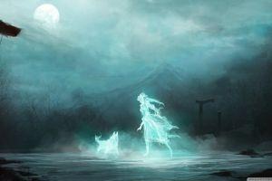landscape moon fantasy art