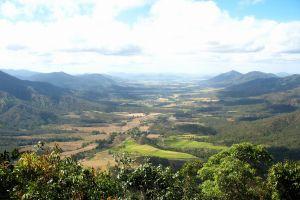 landscape mountains valley nature