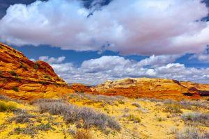 landscape nature clouds rock