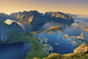 landscape norway nature lofoten islands