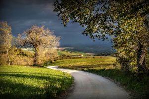 landscape outdoors road