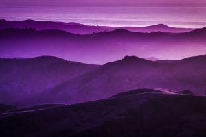 landscape purple mountains