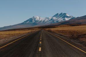 landscape road asphalt mountains