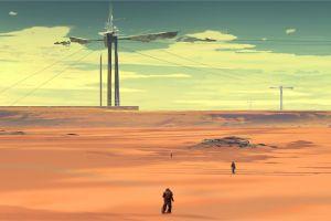 landscape science fiction desert