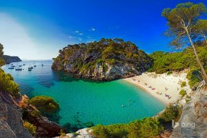 landscape sea bay beach