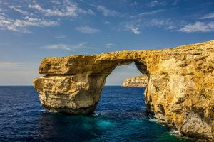 landscape sea malta cliff