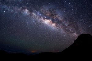 landscape starry night galaxy night long exposure comet stars milky way