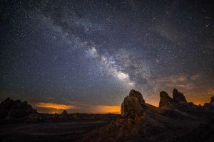 landscape stars starry night milky way skyscape