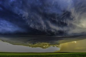 landscape storm field nature wind supercell clouds