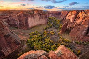 landscape sunset nature canyon