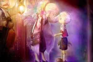 lantern anime girls blonde anime