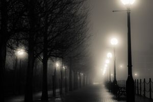 lantern city dark night
