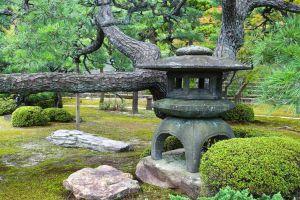 lantern garden park stone japanese garden