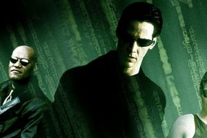 laurence fishburne the matrix neo morpheus 1999(year) movies carrie-anne moss keanu reeves shades trinity (movies)