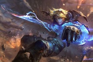 league of legends concept art artwork ezreal video games