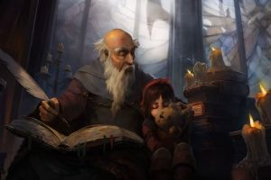 leah diablo deckard cain fantasy art illustration