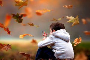 leaves nature children