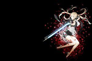 legs simple background long hair no more heroes anime anime girls nintendo