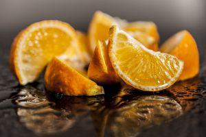 lemons food reflection fruit macro