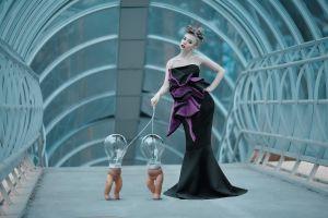 lightbulb model women