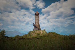 lighthouse the witcher 3: wild hunt nature