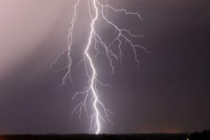 lightning storm landscape nature clouds