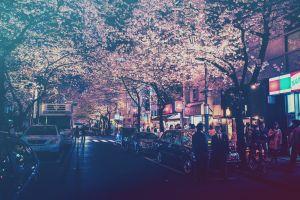 lights city japan filter street light street