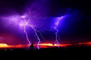 lights clouds night lightning