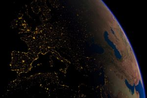 lights earth space europe