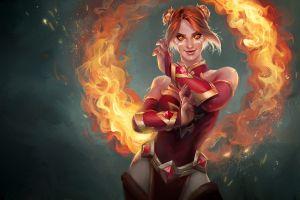 lina pc gaming dota 2 fire video game warriors fantasy girl