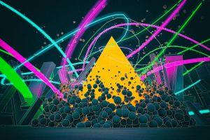lines colorful cgi digital art shapes triangle