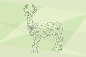 lines digital art simple background animals deer