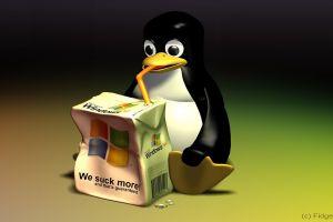 linux render microsoft windows penguins humor