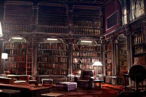 literature books library digital art artwork