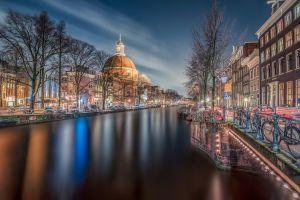 long exposure amsterdam city retouching nature canal